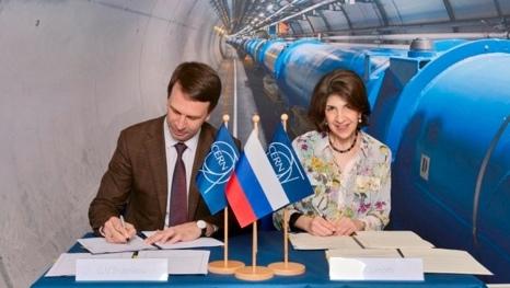 Подписание нового Соглашения о сотрудничестве Россия-ЦЕРН: Григорий Тр...